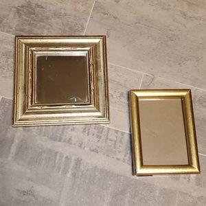 EUC SM Boho Decor Square Mirror & Frame